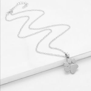 Jewelry - Dog Paw Print Necklace Silver Tone
